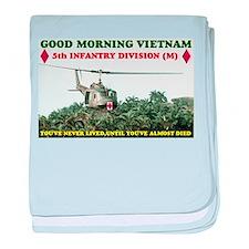 5th INFANTRY DIV VIETNAM baby blanket