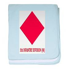 5th INFANTRY (M) baby blanket
