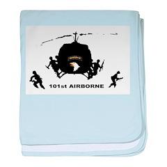101st airborne baby blanket