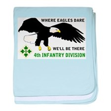 4th INFANTRY EAGLES baby blanket