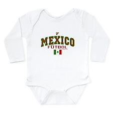 Mexico Futbol/Soccer Long Sleeve Infant Bodysuit