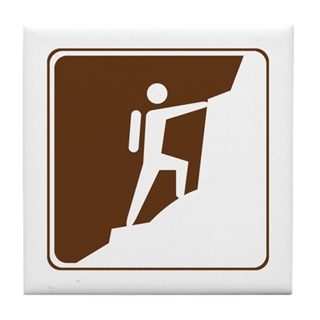 Climbing Sign Tile Coaster