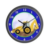 Backhoe Digger Construction Wall Clock