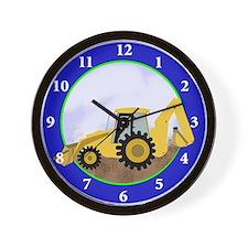 Backhoe Digger Construction Wall Clock