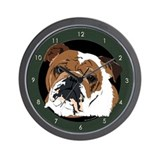 Old English Bulldog Wall Clock