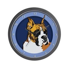 Boxer Dog with Cropped Ears Wall Clock