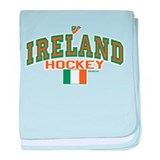 IE Ireland(Eire/Erin)Hockey baby blanket
