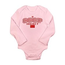 CCCP Soviet Hockey S Long Sleeve Infant Bodysuit