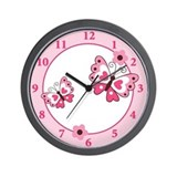 Dancing Butterflies Butterfly Wall Clock