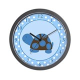Mod Turtle Nursery Wall Clock