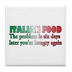 Italian Food Tile Coaster
