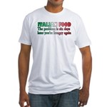 Italian Food Fitted T-Shirt