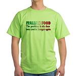 Italian Food Green T-Shirt