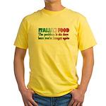 Italian Food Yellow T-Shirt