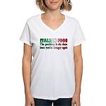 Italian Food Women's V-Neck T-Shirt