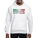 Italian Food Hooded Sweatshirt