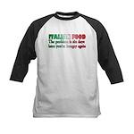 Italian Food Kids Baseball Jersey