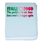 Italian Food baby blanket