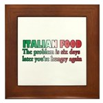 Italian Food Framed Tile