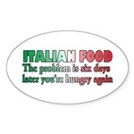 Italian Food Sticker (Oval 10 pk)