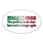 Italian Food Sticker (Oval 50 pk)