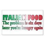 Italian Food Sticker (Rectangle 50 pk)