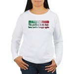 Italian Food Women's Long Sleeve T-Shirt