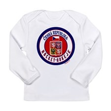 CZ Czech Rep Ice Hockey Long Sleeve Infant T-Shirt