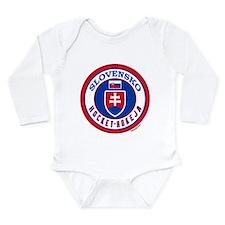 SK Slovakia/Slovensko Hockey Long Sleeve Infant Bo