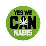 "Yes We Cannabis 2 3.5"" Button"