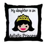 Autistic Princess Throw Pillow