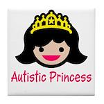 Autistic Princess Tile Coaster