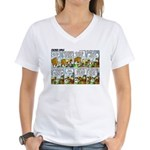 2L0071 - Hans' birthday... Women's V-Neck T-Shirt