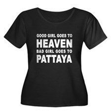 GOOD GIRL Women's Plus Size Scoop Dark T-Shirt