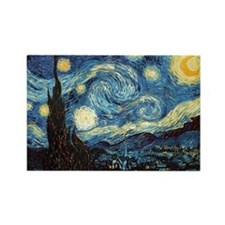 Cute Van gogh starry night Rectangle Magnet