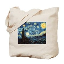 Cute Van gogh starry night Tote Bag