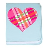 Pretty in Plaid baby blanket