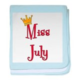 Miss July baby blanket