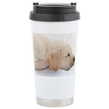 Labrador Puppy Dog Ceramic Travel Mug