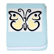 White Butterfly1 baby blanket