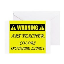 WARNING: Art Teacher Greeting Card
