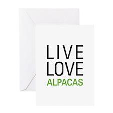 Live Love Alpacas Greeting Card