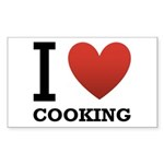 I Love Cooking Sticker (Rectangle 50 pk)