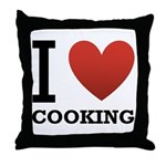 I Love Cooking Throw Pillow