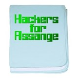 Hackers For Assange Wikileaks baby blanket