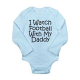 Watch Football With Daddy! Onesie Romper Suit