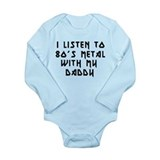 80s Metal With My Daddy Onesie Romper Suit