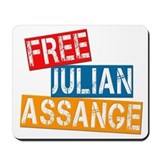 Free Julian Assange Mousepad