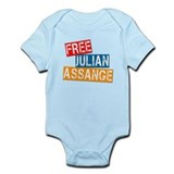 Free Julian Assange Infant Bodysuit
