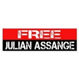 Free Julian Assange Bumpersticker Car Sticker